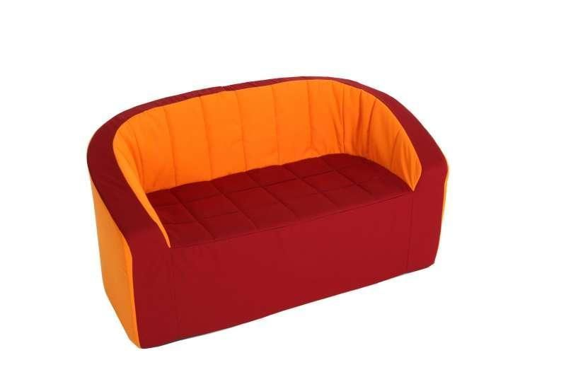 Kita Berlin Doppel Sessel Orange Pu Schaum Kindergarten Kids