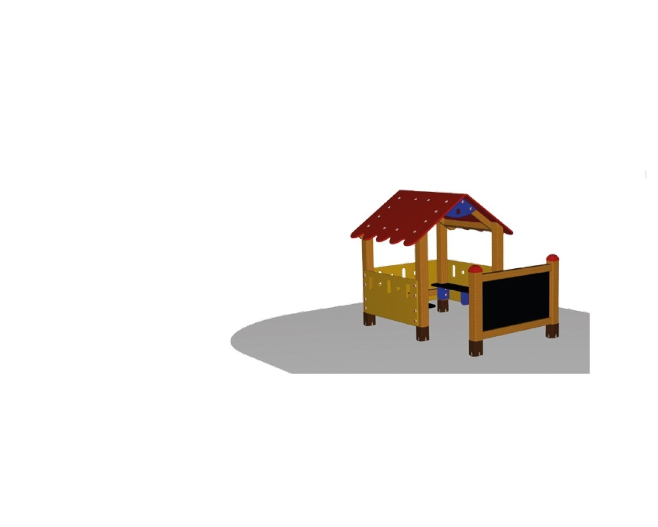 kita bonn outdoor spielanlage kleines spielhaus mit b nken tafel kids und kita. Black Bedroom Furniture Sets. Home Design Ideas