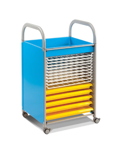 Gratnells Callero CALSET53 cyan blue Art Trolley Height 945mm Width 570mm Depth 510mm