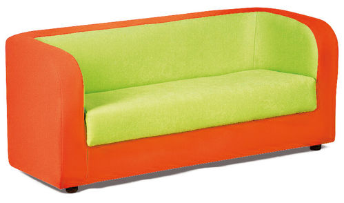 "Kita ""Hamburg"" PVC/PU Möbel * Orange+Grün Couch 120 x 60 x 55 cm"