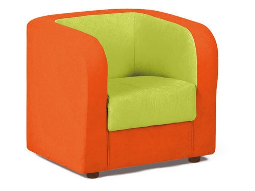 "Kita ""Hamburg"" PVC/PU Möbel * Orange+Grün Armchair 50 x 60 x 55 cm"