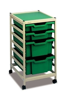 Gratnells Science Storage Mini Trolley B mit jew. 2 * F1 + F2 Kästen