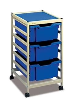 Gratnells Science Storage Mini Trolley C mit 3 * F2 tiefe Kästen