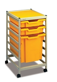 Gratnells Science Storage Mini Trolley D mit 2*F1 + 1*F3 Jumbo
