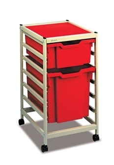 Gratnells Science Storage Mini Trolley E mit 1*F2 + 1*F3 Kasten