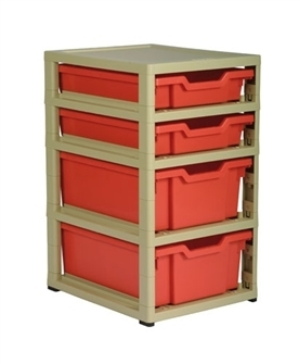 Gratnells Junior Storage GratStack Single mit 2*F1 +  2*F2 Kästen