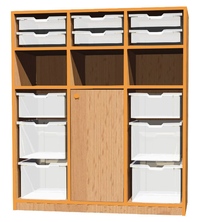 kita bonn schrank basic 29 mit 12 boxen 105 x 121 x 45 cm kids und kita allyoureallyneed. Black Bedroom Furniture Sets. Home Design Ideas
