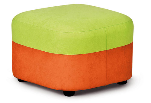 "Kita ""Hamburg"" PVC/PU Möbel * Orange+Grün Kinder Pouf 40 x 40 x 30 cm"