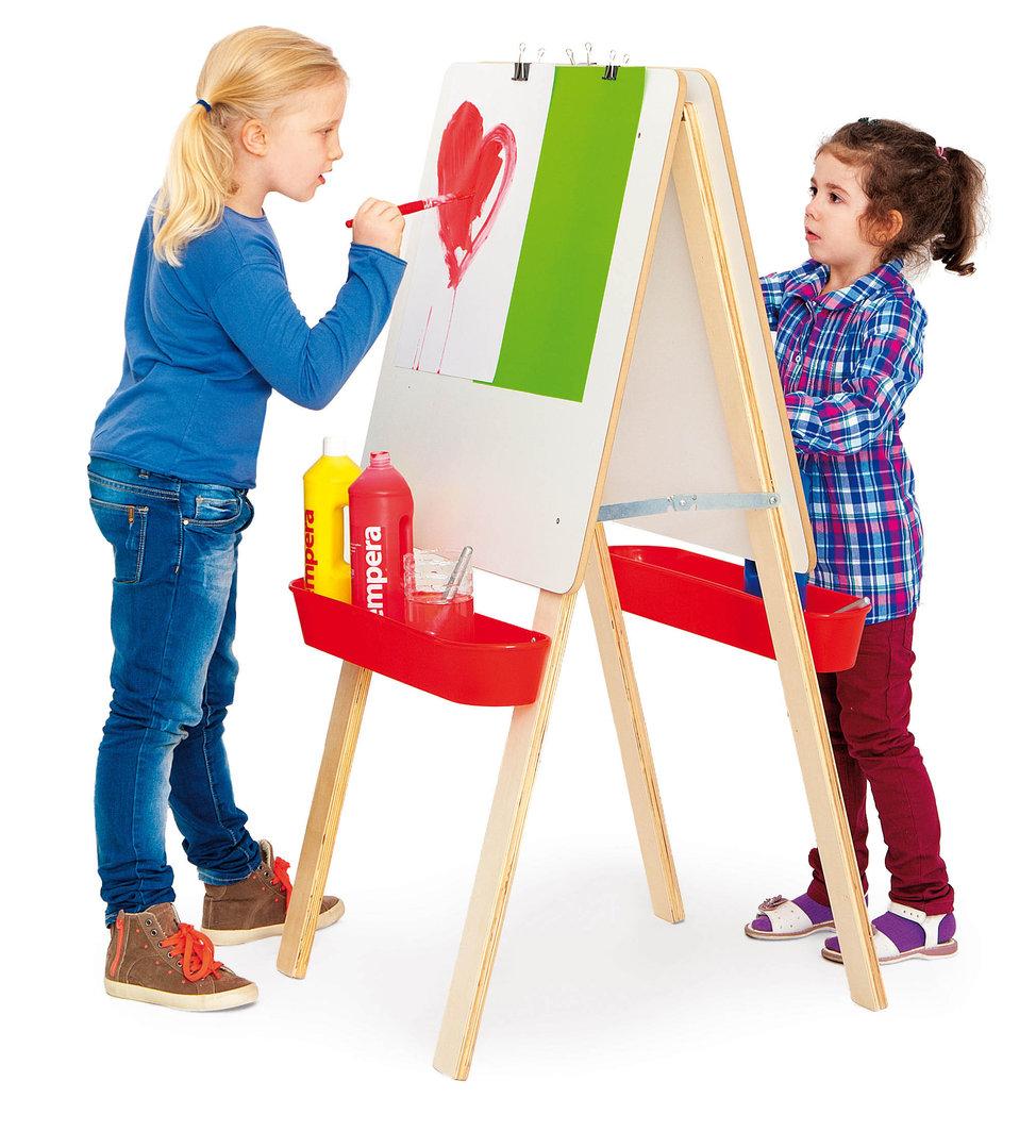 kita hamburg malen doppelseitige staffelei f r 2 kinder 121x65cm kids und kita. Black Bedroom Furniture Sets. Home Design Ideas