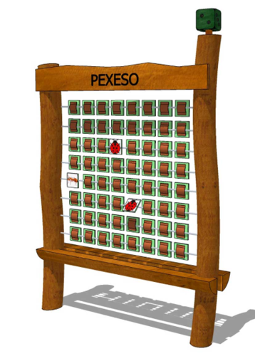 OUTDOOR Robinie * Card Board Pexeso * d = 1,30 m; w = 0,30 m; h = 1,70 m