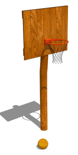 OUTDOOR Robinie * Basketball 2 * d = 1,20 m; w = 0,75 m; h = 3,00 m